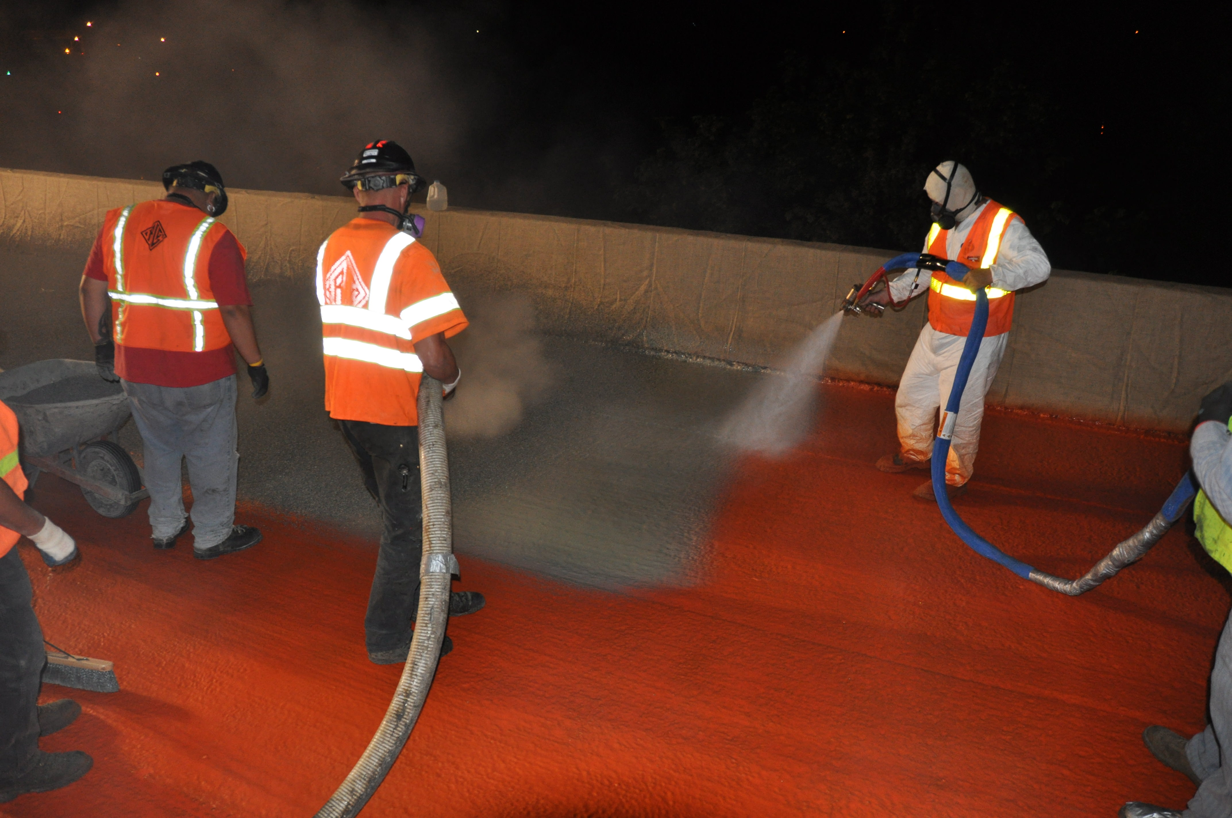 Oregon DOT Utilizes High Friction Spray Applied Waterproofing System