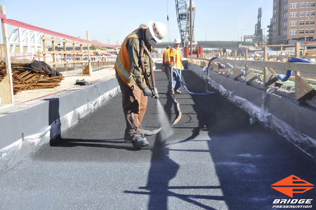 spray applied ballast mat