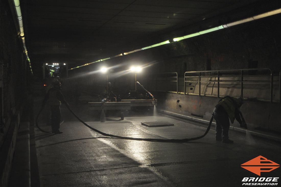Callahan Tunnel Spray Applied Tunnel Waterproofing