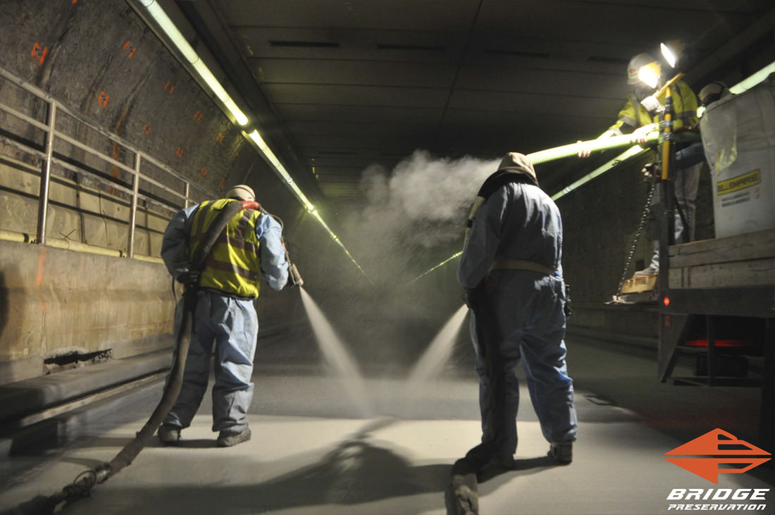 Callahan Tunnel Spray Applied Tunnel Waterproofing