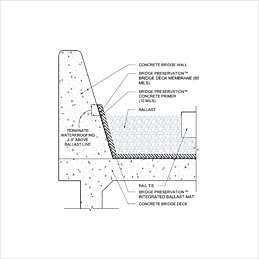Concrete Deck Waterproofing with Integrated Ballast Mat