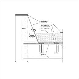 Steel Deck Waterproofing with Integrated Ballast Mat