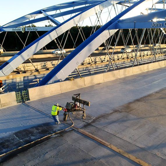 spray applied waterproofing whittier bridge