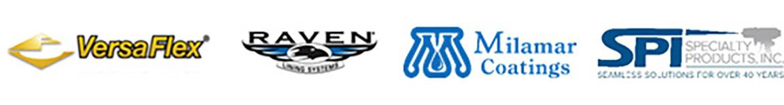 Versaflex, Raven, Milamar, and SPI logos